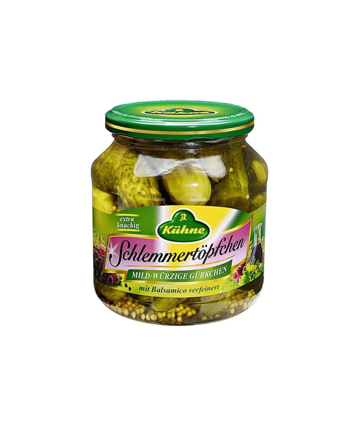 Schlemmertöpfchen mild-würzige Gürkchen mit Balsamico Kühne 580 ml