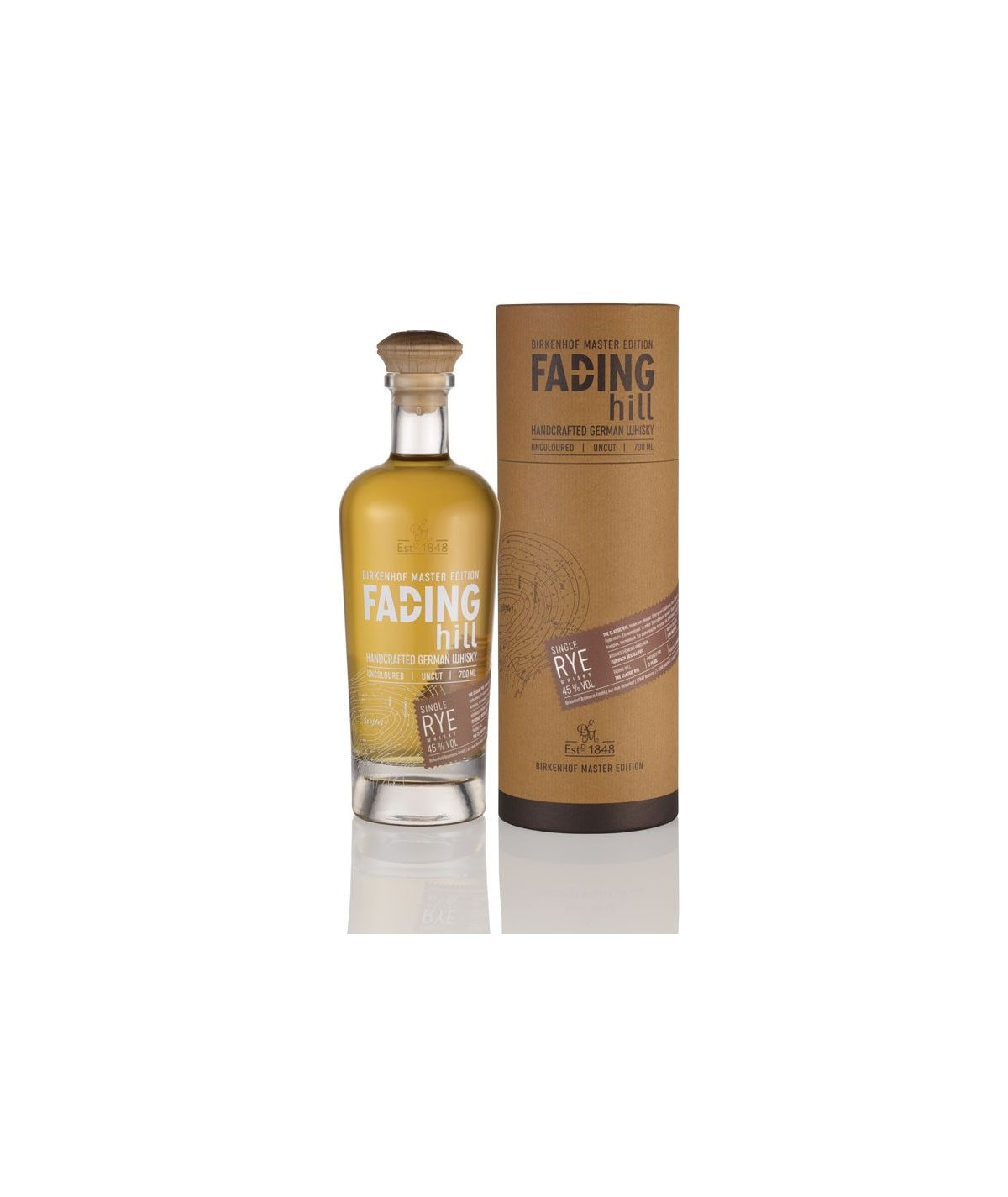 Fading Hill Single Rye classic Whisky 0,7l