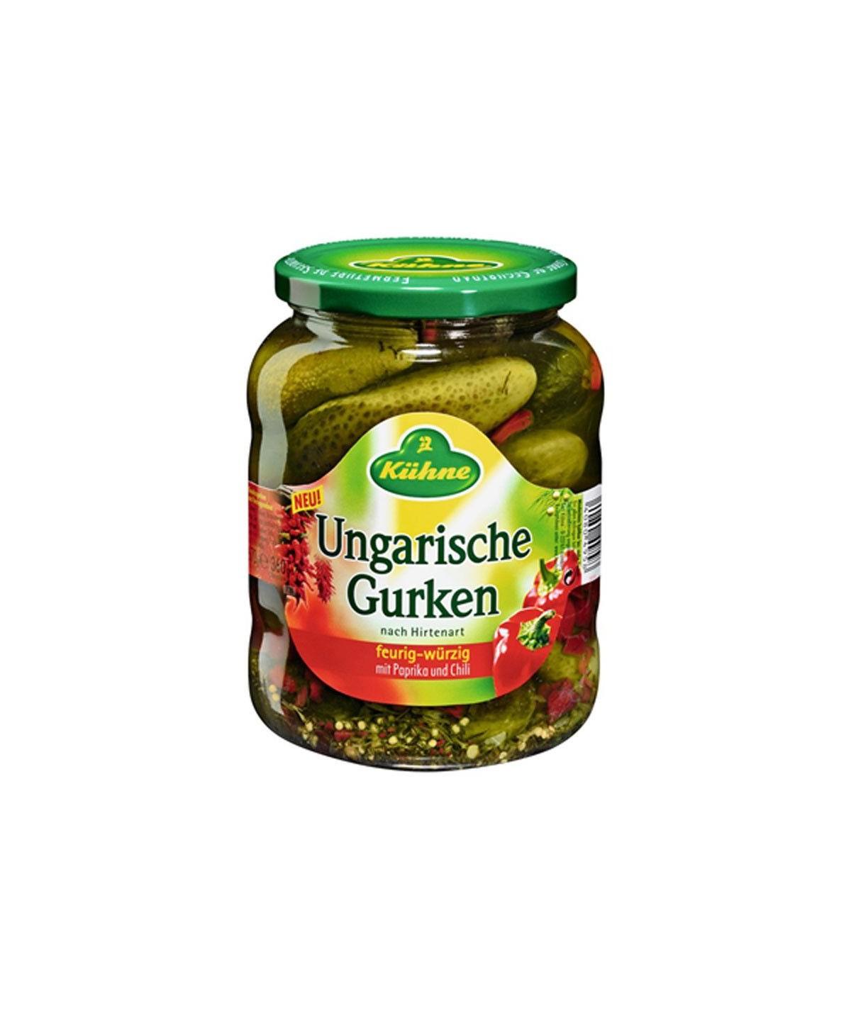 Ungarische Gurken feurig-würzig mit Paprika und Chili Kühne 720 ml