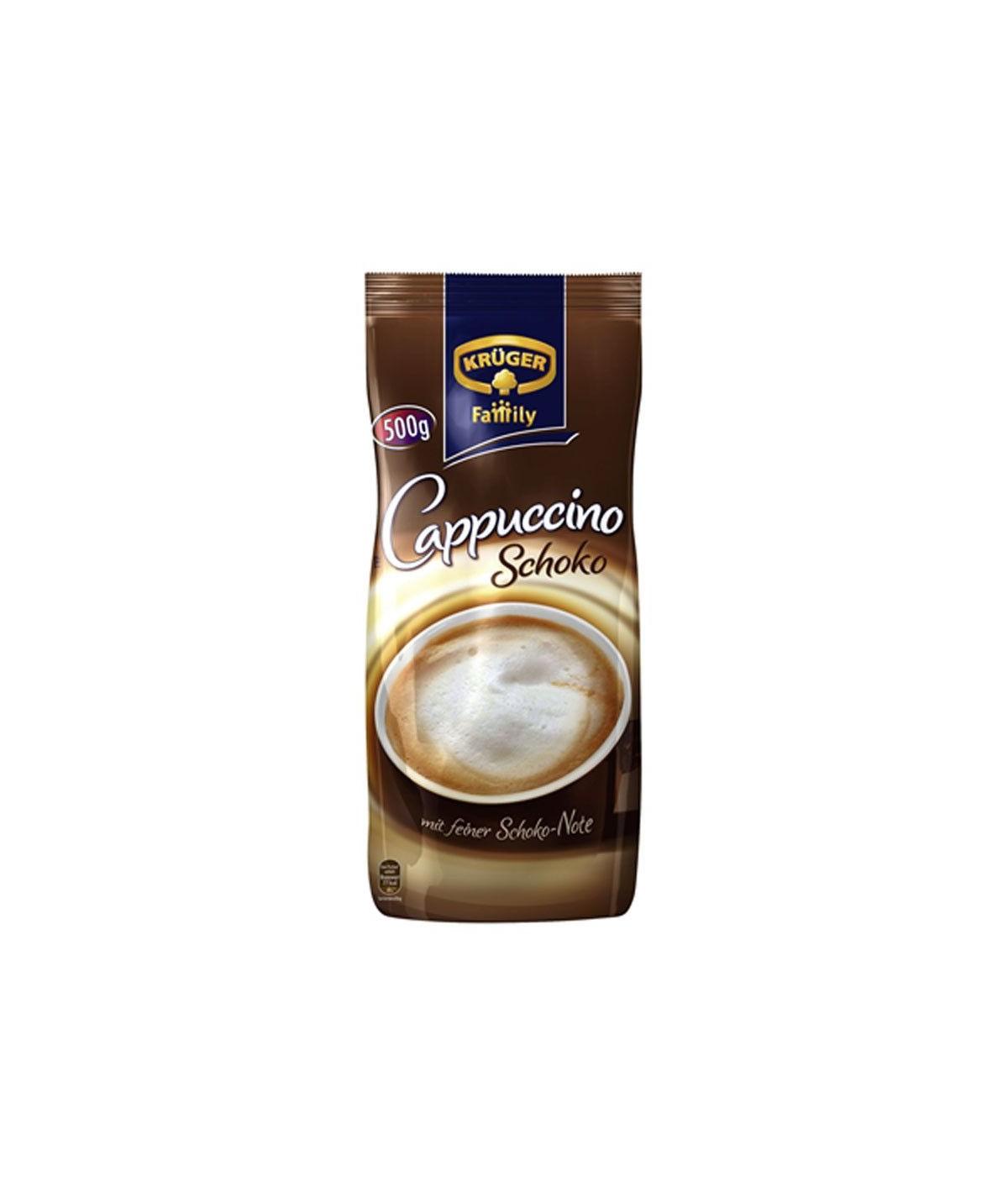Cappuccino Schoko Instant-Kaffee Krüger 500 g