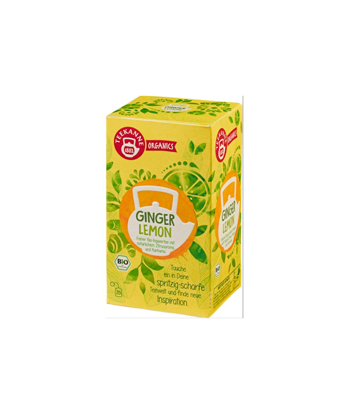 Bio Kräutertee Ginger Lemon Teekanne 36g