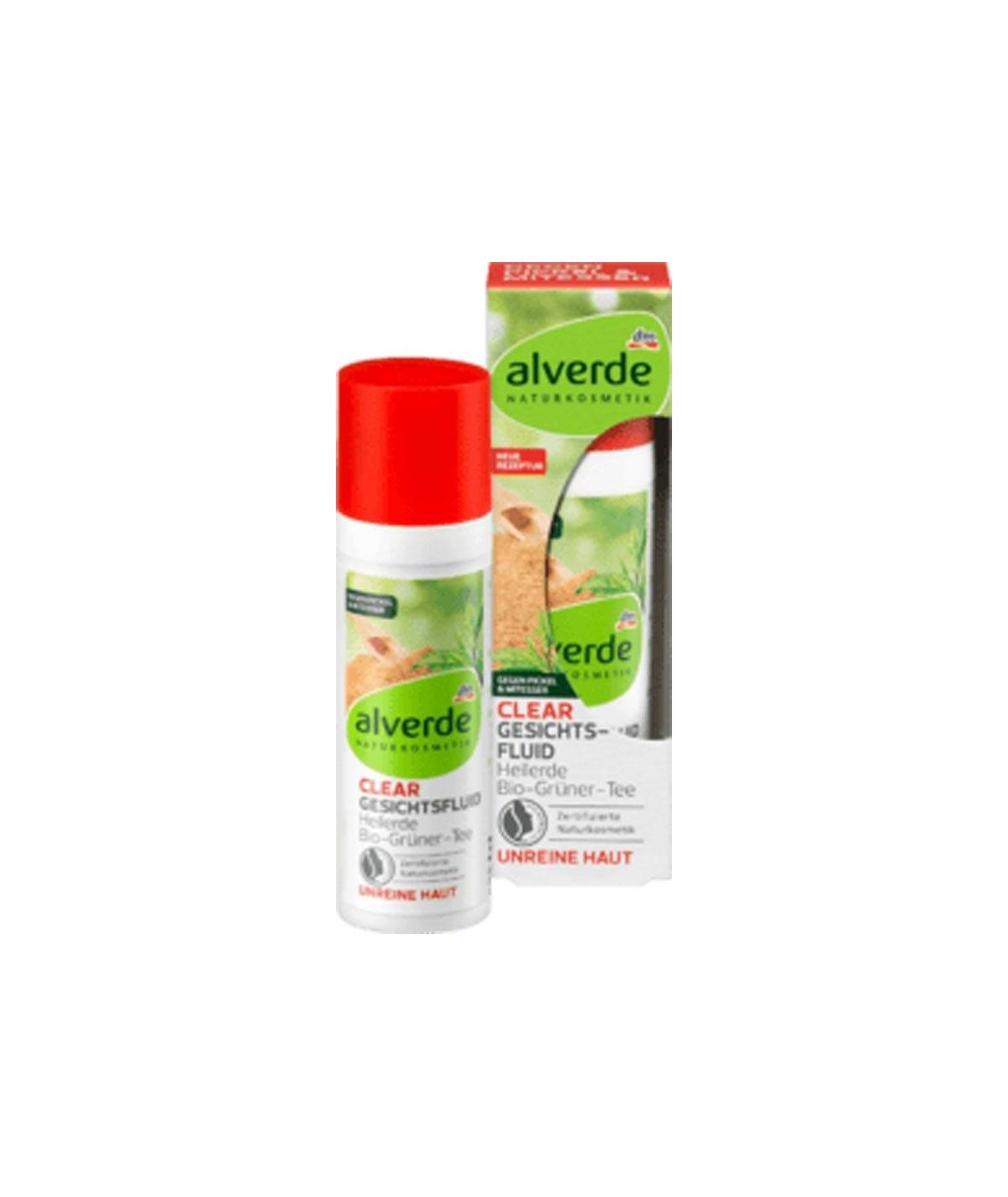 Argile Cicatrisante Fluide Visage Clair Thé Vert Bio, 30 ml