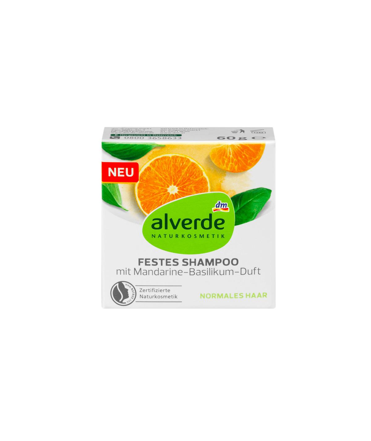 shampoing solide au parfum mandarine et basilic, 60 g
