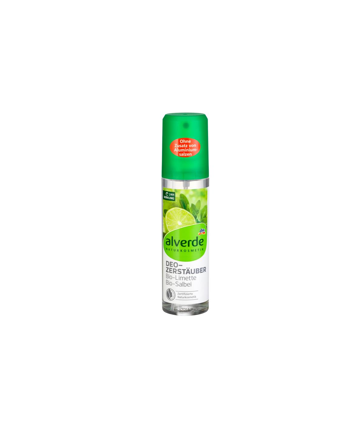 Déodorant atomiseur déodorant citron vert sauge, 75 ml