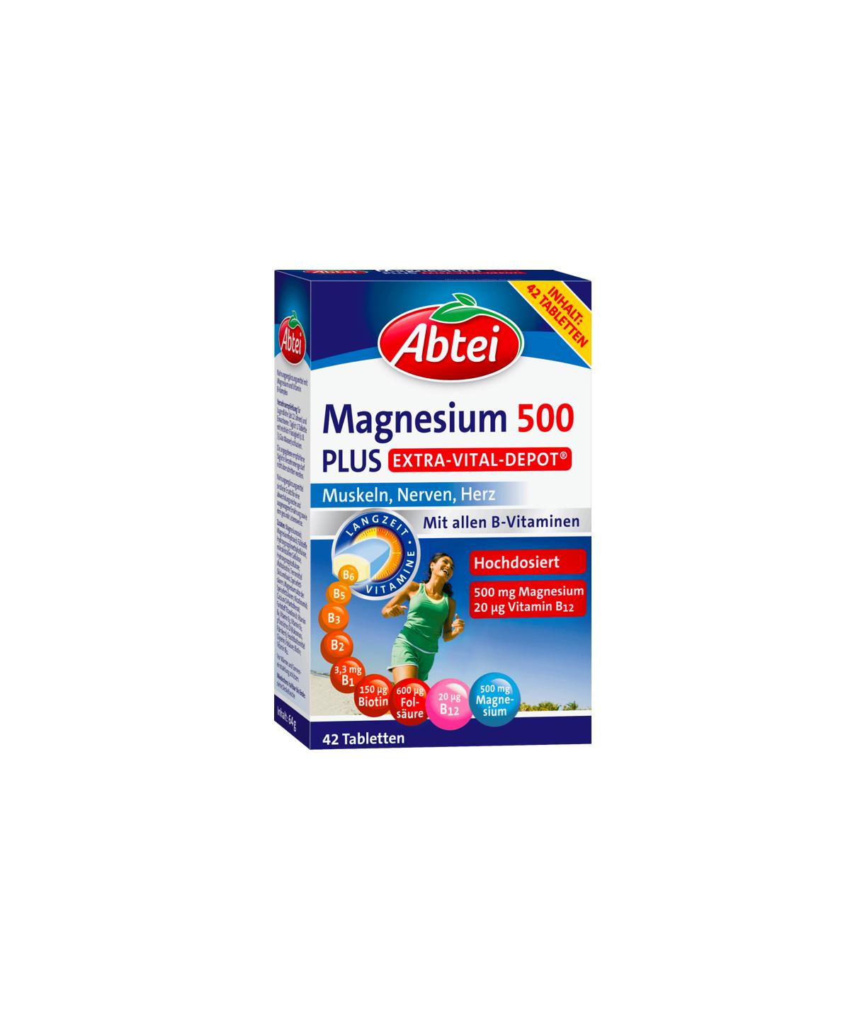 Magnesium 500 Plus Vital Depot comprimés 42 pièces, 64 g